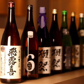 日本酒の品揃えも◎プレミアム日本酒も多数ご用意しております♪