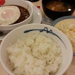 松屋 - ブラウンソースエッグハンバーグ定食650円