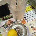 夢庵 - 生搾りレモン酎ハイ