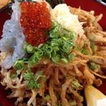 豊洋丸 - 生しらすと玉ねぎのかき揚げ丼
