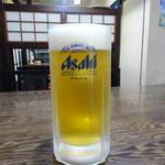 千束そば - 生ビール(550円)