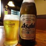 越前そば むぎや - 瓶ビール(中瓶)(650円)