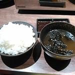 焼肉モランボン - ライス、スープ