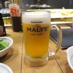 炉ばた焼 網衆 - 生ビール