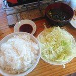 お福 - ご飯、味噌汁付きます(¥680)
