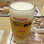 ラーメン横綱 - 2016年08月03日  生ビール(中)