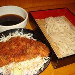 まる政 - ソースカツ丼+もりうどん