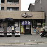 薩摩屋 - 大衆的飲食店が多いエリアにあります。鹿児島料理のお店ではなく、基本はお好み焼屋です。