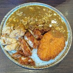 CoCo壱番屋 - 料理写真:チキン三昧、納豆とチーズとエビカツの400g