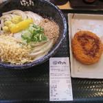 はなまるうどん 新橋日比谷通り店 - これで620円也。ちょっと高すぎ
