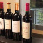 ボヌール - ワインも種類が豊富