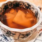 翁 - 河豚のアラのスープ