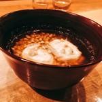 翁 - お椀 河豚の白子と蕎麦の実