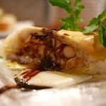 クオーレアズーロ - 秋刀魚とキノコのパートフィロ包み焼き