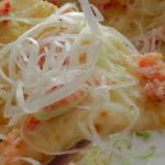 エルマールガーデン - 蟹と白髪ねぎ和風ピッツァ