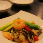岳 - エビと季節野菜の炒め物 ★4