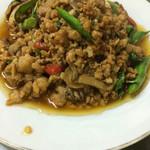 タイーヤータイ - 豚肉のホーリーバジル炒め