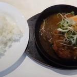 Cafe Xando - ◆鉄板焼きハンバーグとライス(パンも選べます)