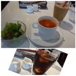 Cafe Xando - ◆アイスコーヒー(+150円)・・小さめのグラスで出されます。 普通のテイストですけれど、追加料金ですのでもう少し大きめのグラスで出して頂きたいかと