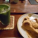 甘味茶屋 - やせうま320円とグリーンティー430円