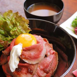 ◆ローストビーフ丼・ステーキ丼ランチ大人気◆1日数量限定!