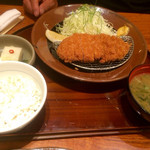 かつ盛 - 那須高原豚ロース膳中1652円