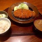 かつ盛 - 那須高原豚特厚ロース膳2138円