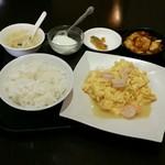 中華料理 菜香菜 - 【ランチ】海老と玉子炒め:700円