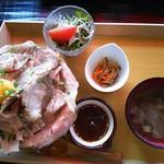 食匠 なる花 - ローストポーク丼(大)おろしダレクーポン使用で¥1280→¥980
