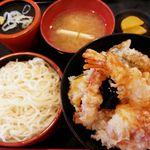 花いちもんめ - 天丼蕎麦セット 680円+税 2016/09