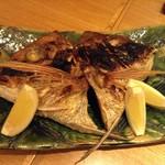 日本料理 菱沼 - 鯛のお頭焼き