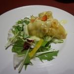 55694095 - [料理] 海老とフルーツの香港マヨネーズソース 全景♪w