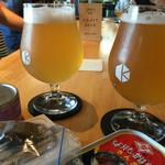 京都醸造株式会社 試飲スペース - タップから6種類選べます。やすい