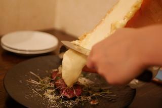 チーズと和牛ビストロ きこりのお家 - ラクレット+牛ハラミ