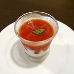 55698692 - カッペリーニトマトのクールスープ (350円)