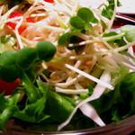 レストラン シェノワ gite - 付け合せのサラダ。 08/06