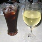 エーゲ海 - グラスワイン&ザクロのジュース