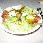 エーゲ海 - 田舎風サラダ(フェタチーズ入り)