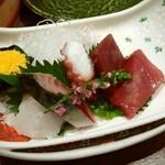 55700811 - お造り(鱧炙り、マグロ、マダコ、カツオ、生サバ酢〆)
