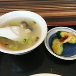 王記酒家 - スープとお新香