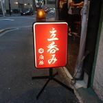 立呑み 魚椿 - 2016.09 名駅西口、栄、金山、に続きや名護橋にもオープンしました。