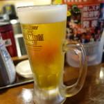 立呑み 魚椿 - 2016.09 生ビール(450円)