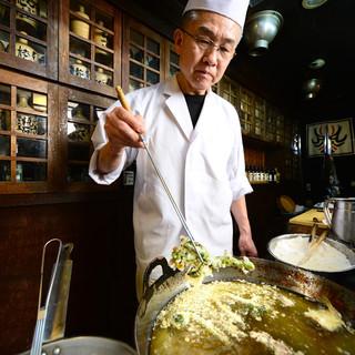 関西は、京都の塩で食べる京風天麩羅