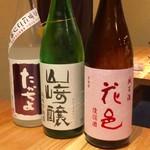 日本酒庵 吟の杜 - H28.09.03 たかちよ・山崎醸・花邑