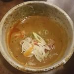 中も津屋 - つけ汁(冷し坦々つけ麺)