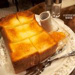 浅草 珈琲屋ハロー - 超厚切りトースト