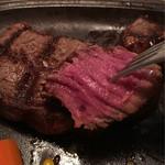 神戸ステーキハウス - 焼き方はさすがと言わざるを得ない。