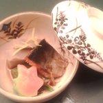5572227 - 煮物の鉢(芋と魚)
