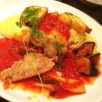 しゃぽーるーじゅ - 秋野菜と甘鯛のオムライス Sサイズ ¥1000