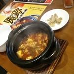 ドラゴンパンチ - 四川定食の麻婆豆腐♪